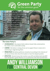 Andy Williamson for Central Devon: front